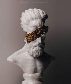 vaporwave sculpture Artist Creates Sculptures Of Ancient Deities And Mythological Creatures With A Modern And Surreal Twist Roman Fashion, Hip Hop Art, Greek Art, Mythological Creatures, Creative Photos, Sculpture Art, Metal Sculptures, Abstract Sculpture, Bronze Sculpture