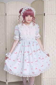 --> Newly Added: Neverland Lolita ***Afternoon Tea*** Sweet Lolita OP Dress --> Custom sizing available [Made-to-Measure] --> Learn More: http://www.my-lolita-dress.com/neverland-lolita-afternoon-tea-sweet-lolita-op-dress-gc-53