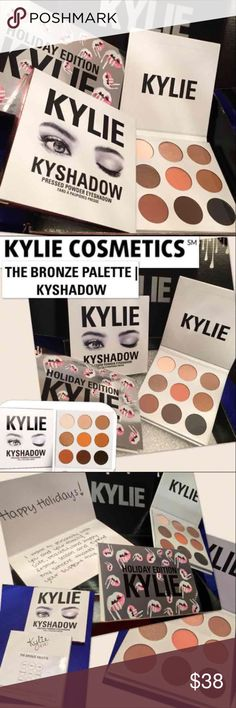 NEW Kylie Cosmetics Kyshadow the Bronze Palette Brand new in box Kylie Cosmetics Kyshadow The Bronze Palette   Kyshadow Kit  For authentication/verification, see pic #4 of confirmation +packing receipt +order #. To ensure authenticity, all Kylie products purchased will include copies of original order email, purchase and shipping details, &order packing slip from Kylie Cosmetics  Jasper Quartz Topaz Goldstone Citrine Tiger Eye Hematite Bronzite Obsidian  Sephora Kylie Jenner kardashian ulta…