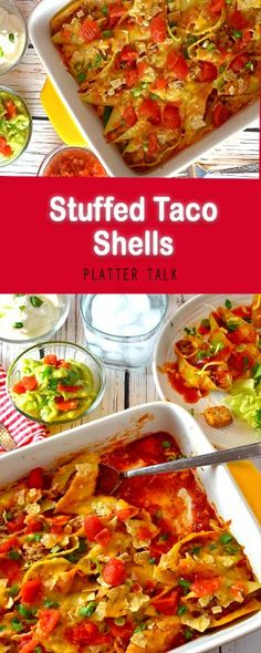 Stuffed Taco Shells Recipe. Full of ease and flavor, this family meal goes together for about $3.00 per serving!