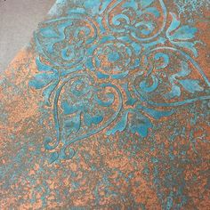 Beautiful Sample Finish from the Patina & Rust workshop by Artistic Painting Studio