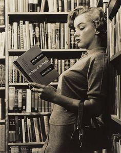Marilyn Monroe reading Arthur Miller, from Nifty Fifties