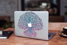 Tree MacBook Air Skin 13 inch MacBook Air 13.3 Skin Leaves MacBook Air 11 Decal MacBook Air 2019 Cover MacBook 2019 Decal MacBook Pro 13 by DesignerSkinUA on Etsy Macbook Skin, Macbook Air 11, Macbook Pro 15, Tropical Flowers, Watercolor Print, Plastic Case, Decal, Bubbles, Leaves
