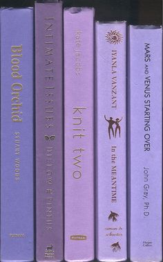 Shades of Purple Books set of 5 Violet by CalhounBookStore on Etsy, $19.99
