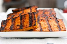 BBQ Beer Glazed and Grilled Tofu