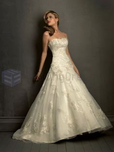 Ball Gown Taffeta Embroidered Bodice Softly Curved Neckline Chapel Length Train Wedding Dresses