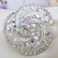 Fashion Silver Alloy Rhinestone Beautiful Female Wedding Brooch[US$2.94]