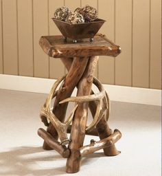 Cabela's Rustic Lodge Accent Table