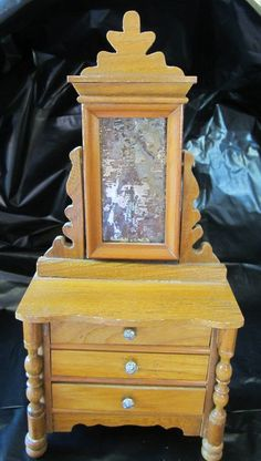 SOLD  Vintage Hand Made Dollhouse Bureau  by JewelsOfHighElegance, $85.00