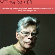 Stephen King – WTF fun fact (WTF Facts : funny & weird facts) - All About Health Stephen King It, Funny Weird Facts, Creepy Facts, Random Facts, Fun Funny, Random Stuff, Random Things, Hilarious, What The Fact