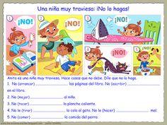 III, 7 - Me encanta escribir en español: Una niña muy traviesa. (ejercicio)