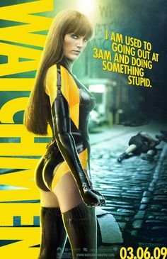 Malin Akerman as Laurie Jupiter/Silk Spectre III - Zack Snyder's Watchmen adaption Dc Comics, Marvel Dc, Pulp Fiction, Comic Character, Belle Photo, Movies Online, Movies And Tv Shows, Movie Tv, Batman Wallpaper