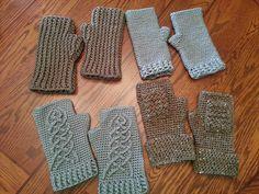 """Free Ravelry: """"The Hobbit"""" Fingerless Gloves for Guys pattern by Jen Spears"""