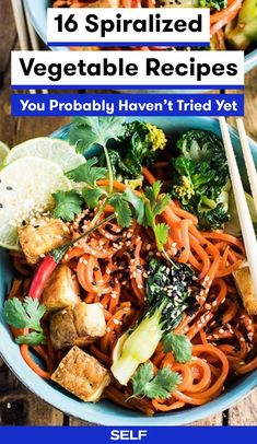 16 Spiralized Vegetable Recipes You Probably Haven't Tried Yet | SELF