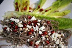 True food seasonal sustainable simple pure recipe book a review pomegranate feta and soba noodles with its pomegranate dressing forumfinder Images