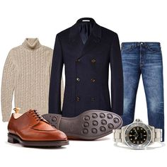 "manolosweden: "" The Peacoat… Stylish Men, Men Casual, Casual Outfits, Fashion Outfits, Men's Fashion, Mens Essentials, Best Mens Fashion, Mens Fall, Well Dressed Men"