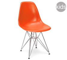 childrens charles and ray eames style dsr chair in orange