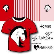Punainen Heppa - trikoo / Red Horse - jersey