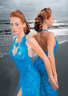 Aquage updo. Very intricate<3