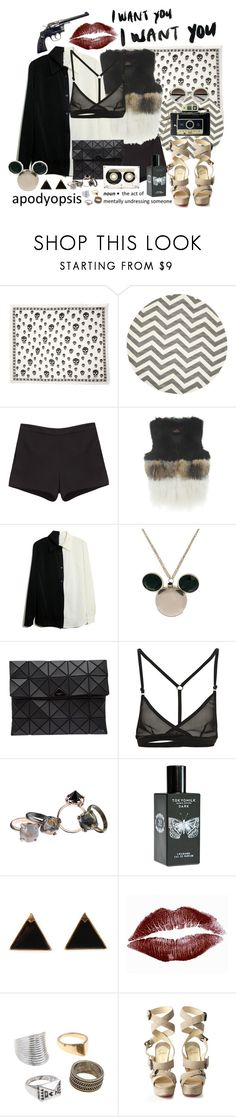 """""""~Thriller~"""" by teodora-teddy ❤ liked on Polyvore featuring Alexander McQueen, Safavieh, T By Alexander Wang, CO, Disney Couture, Bao Bao by Issey Miyake, CASSETTE, Made Her Think, TokyoMilk and Louis Vuitton"""