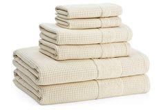 6-Pc Buonaparte Spa Towel Set, Natural on OneKingsLane.com
