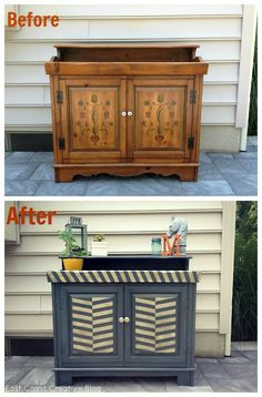 Guest Post: East Coast Creative Rocks an Old Stereo Cabinet ... because DH has one of these in the basement.