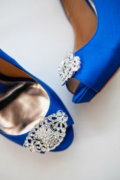 Classic Blue Bridal Shoes | Emily Wren Photography | TheKnot.com