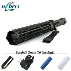 Baseball Bat lanterna powerful telescoping led flashlight cree xml t6 tactical torch baton flash light self defense 18650 OR AAA