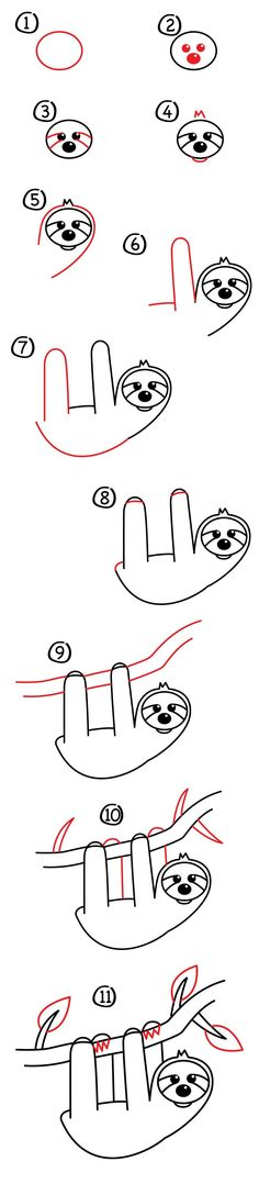 How To Draw A Cartoon Sloth - Art For Kids Hub - Austin and I are learning how to draw a cartoon slo Drawing For Kids, Drawing Tips, Painting & Drawing, Drawing Ideas, Doodle Drawings, Animal Drawings, Easy Drawings, Chibi Bts, Art For Kids Hub