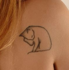 adorable cat tattoo