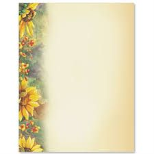 Hand-write family recipes, then frame and hang in kitchen. Page Boarders, Sunflower Garden, Stationery, Paper Crafts, Scrapbook, Lettering, Fall, Family Recipes, Sunflowers