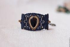 """Купить Авторский браслет """"Оссорион"""" - браслет, авторский браслет, синий, подарок, авторская ручная работа"""