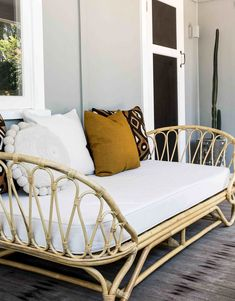 The Paris Day Bed is perfect for your verandah, sunroom, lounge room and also makes the cutest kids beds! Foam mattress included but you could swap with a stand Rattan Daybed, Outdoor Daybed, Daybeds, Outdoor Lounge, Outdoor Living, Mattress Couch, Best Mattress, Foam Mattress, Sofa Beds
