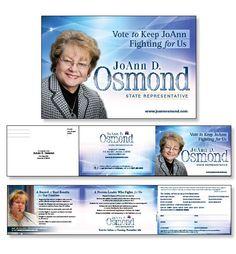 JoAnn Osmond, Trifold Handout with tear off Volunteer Card