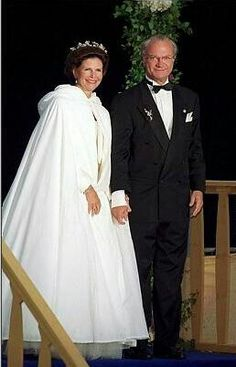 King Carl Gustaf and Queen Silvia of Sweden.