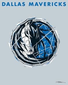 Dallas Mavericks logo design from rareink.com . Choose from fine art print and canvas design and add this to your NBA collection