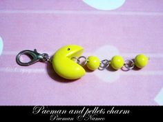 Pacman and Pellets Charm - SOLD by Cryssy-miu.deviantart.com on @deviantART