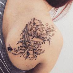 105 Buch-Tattoos für den ultimativen Leser - Buch-Tattoo-Ideen OK POPSUG . 105 book tattoos for the ultimate reader - book tattoo ideas OK POPSUG . - 105 book tattoos for the ultimate reader - book tattoo ideas OK POPSUGAR love & sex - - ideas Tattoo Buch, Lotusblume Tattoo, Tattoo Style, Shape Tattoo, Book Tattoo, Piercing Tattoo, Piercings, Tattoo Skin, Writer Tattoo