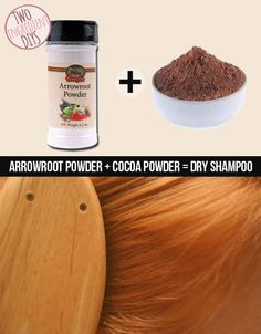 Cut down on greasy locks with this DIY dry shampoo. | 27 Insanely Easy Two-Ingredient DIYs