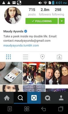 Suggested to follow maudy ayunda on instagram