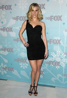 Glee's Heather Morris wearing a net mini dress from La Femme Designer Prom Dresses, Prom Dresses 2017, Prom Dresses For Sale, Prom Dresses Online, Sexy Outfits, Fashion Outfits, Fashion Trends, Heather Morris, Celebrity Gowns