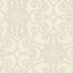 PSN105419 Neutrals Belleek Wallpaper - Passion by Patty Madden