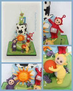 What a challenge! - Cake by Karen Dodenbier Themed Birthday Cakes, First Birthday Cakes, Girl First Birthday, Birthday Parties, Birthday Ideas, Teletubbies Birthday Cake, Teletubbies Cake, Cbeebies Cake, Paw Patrol Birthday
