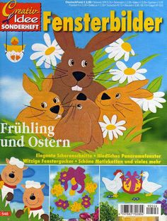 Fensterbilder - Frühling und Ostern - Comatus Coprinus - Picasa Webalbumok Crafts To Make, Crafts For Kids, Magazine Crafts, Magazines For Kids, Book Folding, Tole Painting, Paper Cutting, Decoration, Origami