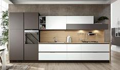 Ideas for kitchen colors modern grey Modern Kitchen Cabinets, Kitchen Cabinet Design, Modern Kitchen Design, Interior Design Kitchen, Kitchen Countertops, Grey Countertops, Concrete Kitchen, One Wall Kitchen, Home Decor Kitchen