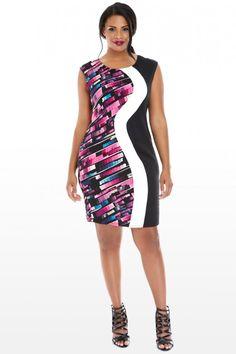 Plus Size Eden Color Block Dress | Fashion To Figure $42.90