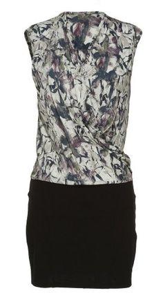 JESSICA SIMPSON Printed Cowl Neck Combo Dress [60136254-P12]Mashmallow
