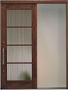 新築やリフォームにおすすめ。木製の玄関引き戸。日本製です。 #リフォーム Door Design, House Design, Room Doors, House Rooms, Stairways, Modern Interior, Tiny House, Entrance, Interior Decorating