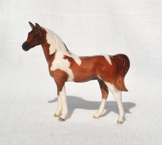 SM Chestnut and White Paint Half Arabian Horse Ceramic China Figurine White Paints, Worlds Largest, Originals, China, Horses, Model, Animals, Painting, Mathematical Model
