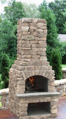 Stone Age Manufacturing Veranda Outdoor Fireplace Kit with Arched Lintel outdoor fireplace Stone Age Manufacturing 18 Outdoor Fireplace Patio, Indoor Outdoor Fireplaces, Outside Fireplace, Outdoor Fireplace Designs, Diy Fireplace, Fireplace Stone, Outdoor Wood Burning Fireplace, Brick Fireplaces, Fireplace Doors